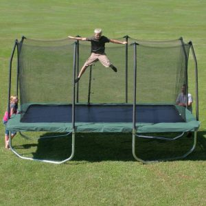 Summit 14'Best Rectangle Trampoline with Safety Enclosure