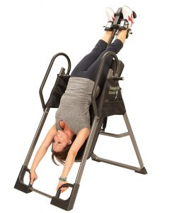 How long should you stay on inversion table
